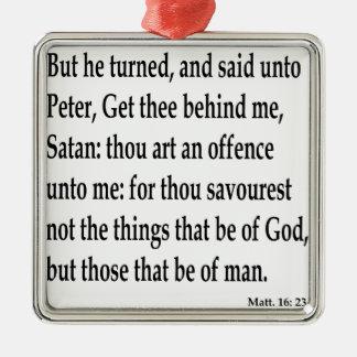 Matt. 16:23 silbernes ornament