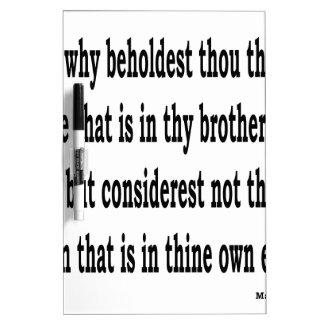 Matt. 7:3, w trockenlöschtafel