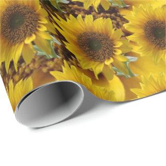Matteinwickelnsonnenblumepapier Geschenkpapier