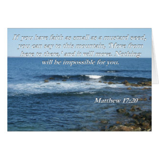 Matthew-17:20 Bibel-Zitatkarte Karte