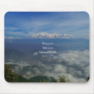 Matthew-17:20 Gebet bewegt Berge Mousepads