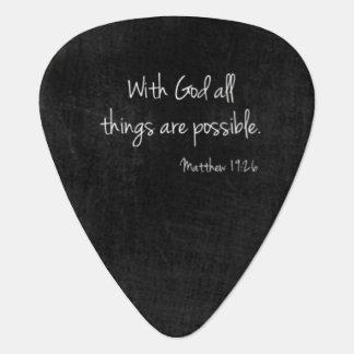 Matthew-19:26 Plektrum