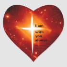 Matthew-28:20 Herz-Aufkleber