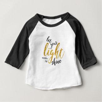 Matthew-5:16 - glänzen Sie Ihr Licht Baby T-shirt