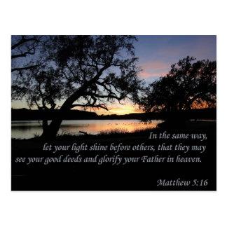 Matthew-5:16 ließ Ihren hellen Shine Postkarte