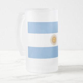 Mattierte GlasTasse mit Flagge von Argentinien Mattglas Bierglas