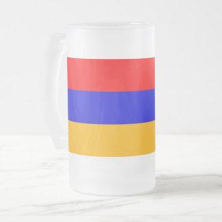 Mattierte GlasTasse mit Flagge von Armenien Mattglas Bierglas