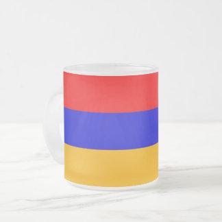 Mattierte kleine GlasTasse mit Flagge von Armenien Mattglastasse