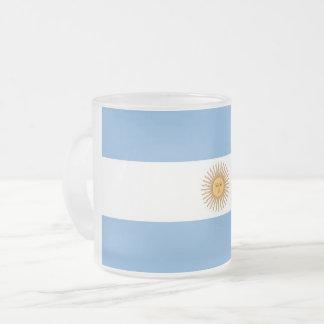 Mattierte kleine GlasTasse mit Flagge von Mattglastasse