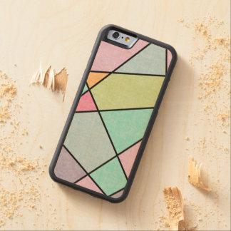 Mattiertes abstraktes Pastellgeometrisches durch Bumper iPhone 6 Hülle Ahorn
