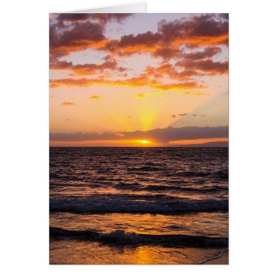 Maui-Sonnenuntergang Notecard Karte