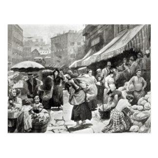 Maulbeerbiegungs-italienische Kolonie in New York Postkarte