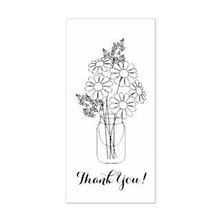 Maurer-Glas-Gänseblümchen-Blumen danken Ihnen Gummistempel