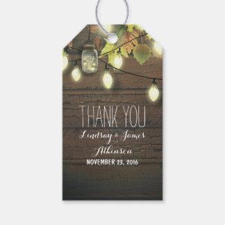 Maurer-Glas-Licht-und Herbstlaub-rustikale Scheune Geschenkanhänger