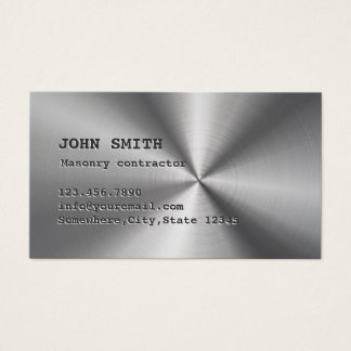 Maurerarbeit-cooles Imitat-rostfreier Stahl Visitenkarte