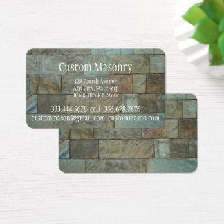 Maurerarbeit-Ziegelstein, Visitenkarte
