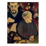 Maurice Utrillo, sa grand-mère et son chien Cartes Postales
