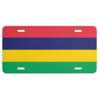 Mauritius-Flagge US Nummernschild