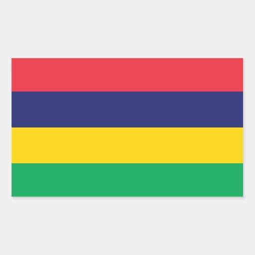 Mauritius - mauritische Flagge Rechrteckaufkleber