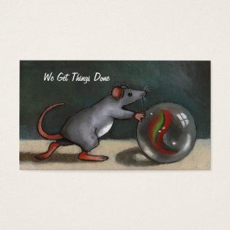 Maus, die Marmor drückt: Bemühung: Ursprüngliche Visitenkarte