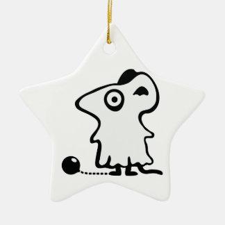 Maus Gespenst - Poltergeist Keramik Stern-Ornament