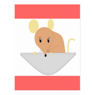 Maus in Ihrer Tasche Postkarte