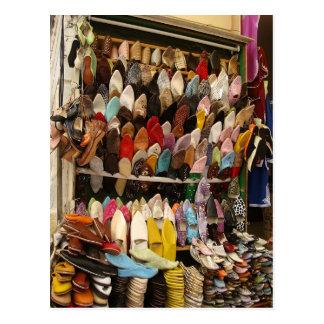 Mausunterlage - Schuh-Verkäufer Tanger Kasbah Postkarte
