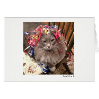 Maximal die Katze   #-7 Mitteilungskarte