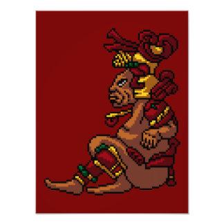 Maya-Stammes- Gott des Männlichkeits-Pixels Photographie
