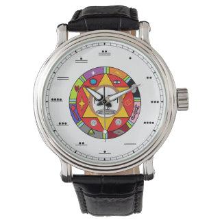 Maya-Zahl-Uhr Armbanduhr