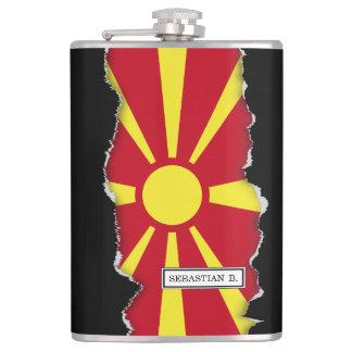 Mazedonien-Flagge Flachmann