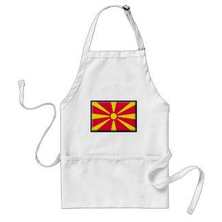 Mazedonien-Flagge Schürze