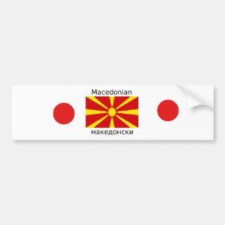 Mazedonien-Flagge und mazedonischer Sprachentwurf Autoaufkleber