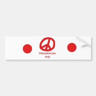 Mazedonien-Sprache und Friedenssymbol-Entwurf Autoaufkleber