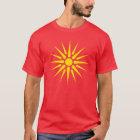 mazedonische Flagge T-Shirt