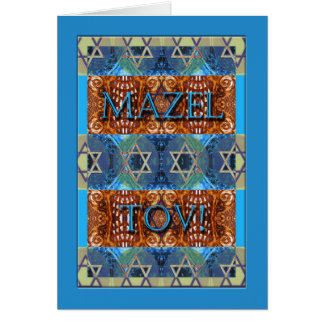 Mazel Tov! Glückwünsche auf Bar Mitzvah, verziert Grußkarte