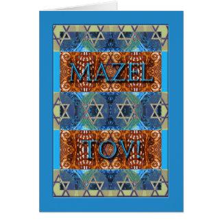 Mazel Tov! Glückwünsche auf Bar Mitzvah, verziert Karte