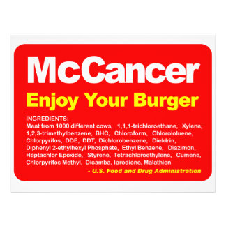 McCancer 21,6 X 27,9 Cm Flyer