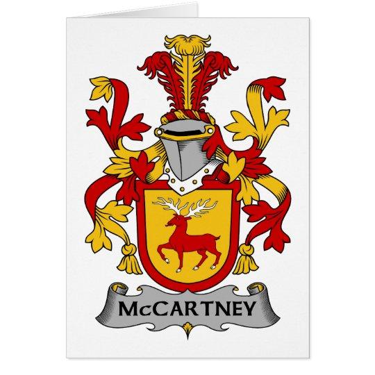McCartney-Familienwappen Karte