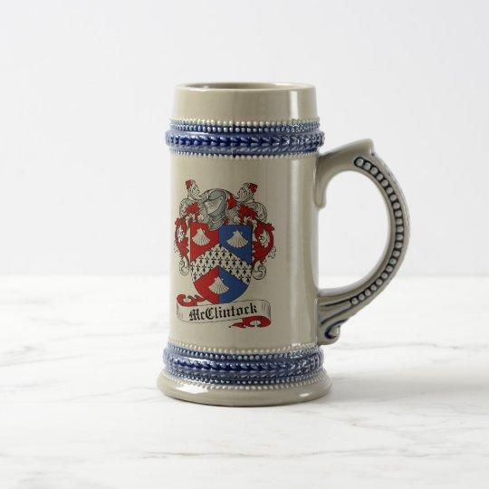 McClintock Wappen Stein - Familienwappen Bierglas