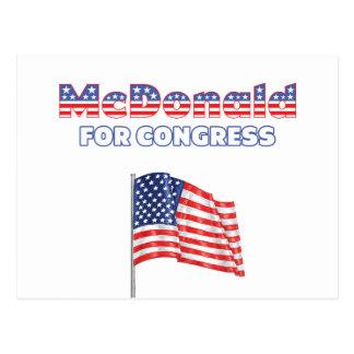 McDonald für Kongress-patriotische amerikanische Postkarten