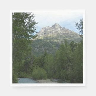 McDonald-Nebenfluss am Glacier Nationalpark Papierserviette