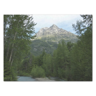 McDonald-Nebenfluss am Glacier Nationalpark Seidenpapier