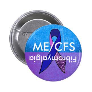 ME/CFS und Fibromyalgia-Bewusstseins-Knopf Runder Button 5,7 Cm