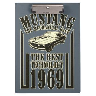 Mechanischer Power des Mustangs Klemmbrett