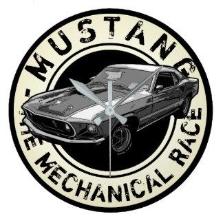 Mechanischer Power des Mustangs Wanduhr