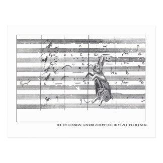 Mechanisches Kaninchen u. Beethoven Postkarte