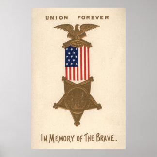 Médaille Eagle de guerre civile des syndicats de