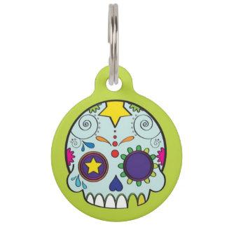 Médaillon Pour Animaux Étiquette d'identification de Dia De Los Muertos