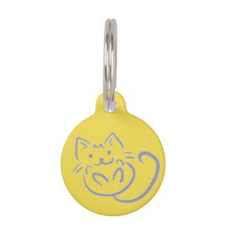Médaillon Pour Animaux Petite étiquette ronde d'animal familier